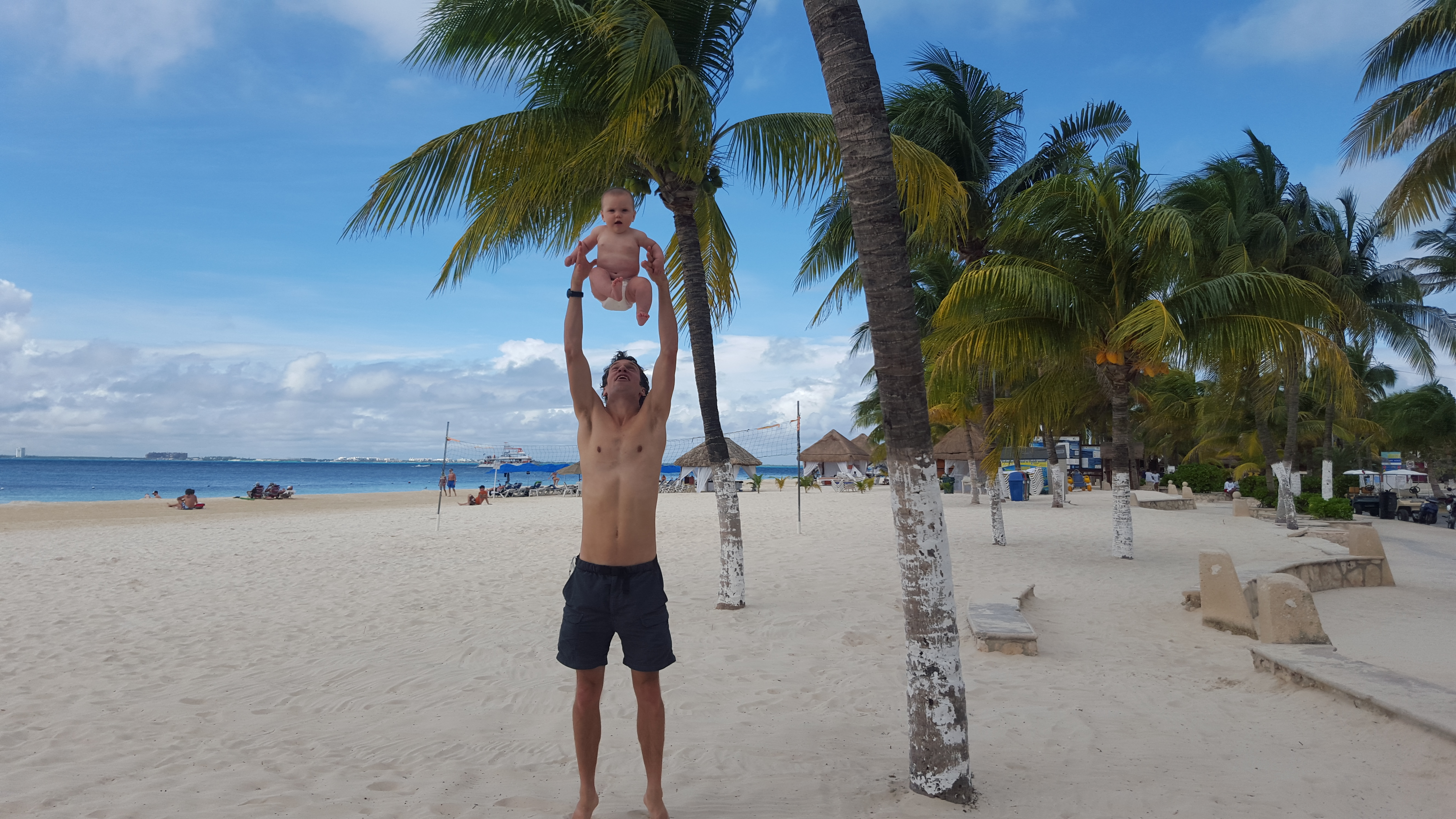 Mexico with our 5 month old - 1 year ago!